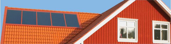 solfångare tak